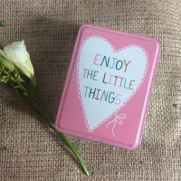 Pretty Pink Retro Tin - Enjoy The Little Things